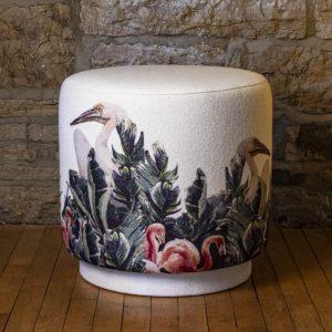 drum stool flamingo