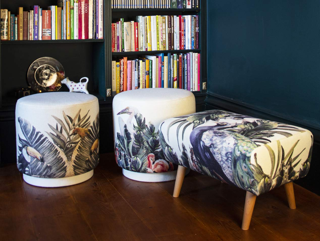 botanical stools x 3